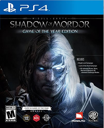 Middle Earth Shadow Of Mordor Game Of the Year PS4